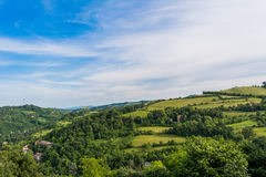 View Bologna Hills. Apennines italian stock photography