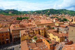 View of Bologna, Italy. Red rooftops in the Italian city of Bologna Stock Photography