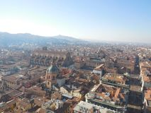 View of Bologna, Italy from Tower royalty free stock image
