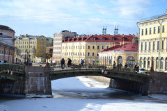 Bolshoi Koniushennyi bridge in St Petersburg Royalty Free Stock Photography