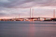 View of Bolte bridge in Melbourne. Stock Photo
