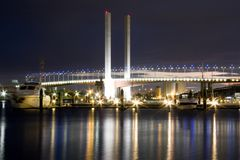 View of Bolte bridge in Melbourne. Royalty Free Stock Photos