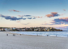 View of bondi beach in sydney australia at sunset Royalty Free Stock Images