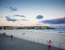 View of bondi beach in sydney australia at sunset Royalty Free Stock Photography