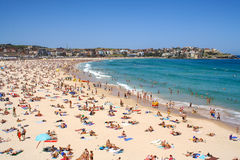 A view of the Bondi beach in Sydney Stock Images