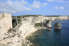 View from Bonifacio, Corsica Island, France Stock Photography