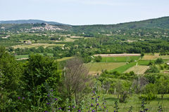 View of Bonnieux and the French Countryside Royalty Free Stock Images