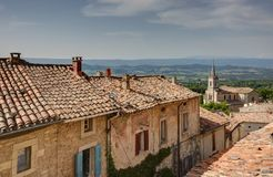 Bonnieux - Luberon - Provence - France. View of Bonnieux - Luberon - Vaucluse - Provence - France Royalty Free Stock Photos