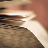 View of book pages. View of maniìy book pages royalty free stock photos