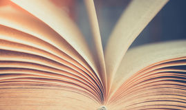 View of book pages. Vintage color royalty free stock photos