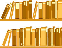 The view of bookshelf Royalty Free Stock Photos