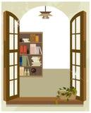 The view of Bookshelf Stock Photo