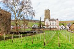 View of the Boosenburg in Ruedesheim, Germany stock image