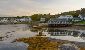 Low Tide. A view of Boothbay Harbor, Maine at low tide, early morning royalty free stock image