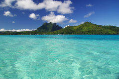 View of Bora Bora island Royalty Free Stock Photo