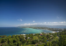 View of boracay island tropical coastline in philippines Stock Photos