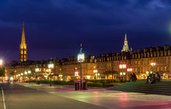 View of Bordeaux in the evening, France, Aquitaine Royalty Free Stock Images