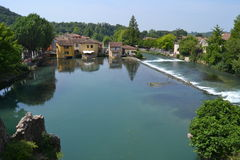 View of borghetto sul mincio Stock Photos