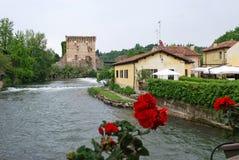 Borghetto sul Mincio. View of Borghetto sul Mincio village - Valeggio sul Mincio, Verona, Veneto, Italy Royalty Free Stock Image