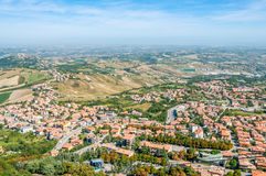 View at The Borgo Maggiore Royalty Free Stock Image