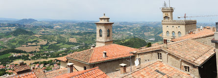 The view from Borgo Maggiore at San Marino Stock Photography