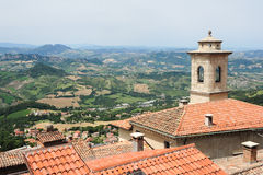 The view from Borgo Maggiore at San Marino Stock Images