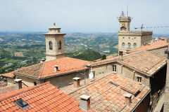 The view from Borgo Maggiore at San Marino Royalty Free Stock Photo