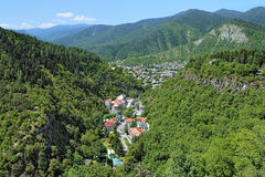 View of Borjomi from a ferris wheel, Georgia Royalty Free Stock Photos