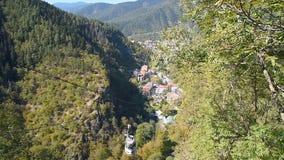 View of Borjomi resort town. Georgia stock footage