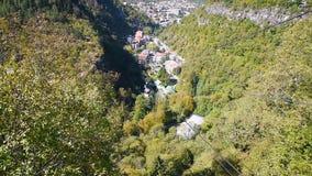 View of Borjomi resort town. Georgia stock video footage