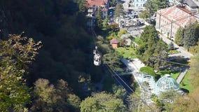 View of Borjomi resort town. Georgia stock video
