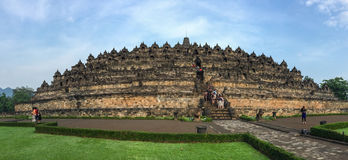 View of the Borobudur temple, Indonesia Royalty Free Stock Image