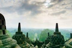Borobudur temple in Yogyakarta, Java, Indonesia. View of Borobudur temple in Yogyakarta, Java, Indonesia Stock Photo