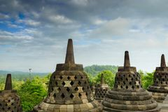 Borobudur temple in Yogyakarta, Java, Indonesia. View of Borobudur temple in Yogyakarta, Java, Indonesia Royalty Free Stock Photo