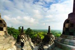 Borobudur temple in Yogyakarta, Java, Indonesia. View of Borobudur temple in Yogyakarta, Java, Indonesia Royalty Free Stock Photography