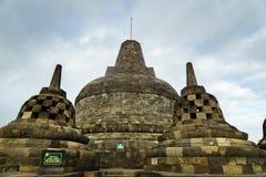 Borobudur temple in Yogyakarta, Java, Indonesia. View of Borobudur temple in Yogyakarta, Java, Indonesia Royalty Free Stock Image