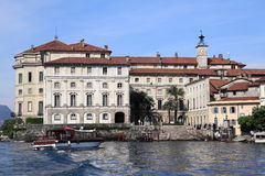 View of Borromeo Palace on Isola Bella island at Stresa, Italy Stock Images