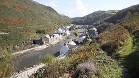 View of Boscastle Cornwall England UK stock video