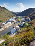 View of Boscastle Cornwall England UK Stock Image