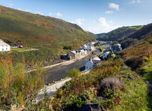 View of Boscastle Cornwall England UK Royalty Free Stock Photos