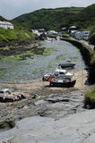 View from Boscastle Harbour. View back up the valley from Boscastle harbour Royalty Free Stock Photo