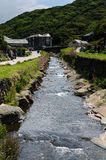 View from Boscastle Harbour. View back up the valley from Boscastle harbour Stock Images