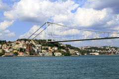 View of the Bosphorus Bridge,Istanbul,Turkey. Royalty Free Stock Photos