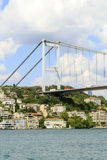 View of the Bosphorus Bridge,Istanbul,Turkey. Royalty Free Stock Photo