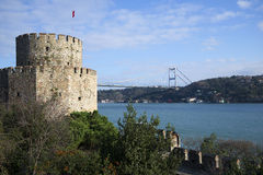 View of the Bosphorus from fortress Rumeli Hisari. Istanbul Stock Photos