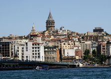 View from Bosphorus on Istanbul Royalty Free Stock Image