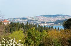 View of Bosporus from Yıldız park Royalty Free Stock Photography
