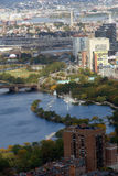 View of Boston. Charles River and Longfellow bridge in Boston Stock Photography