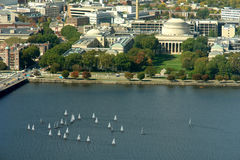 View of Boston. Massachussetts Institute of Technology, MIT in Boston on the Charles river Stock Images