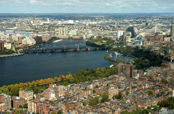 View of Boston. Charles River and Longfellow bridge in Boston Stock Images